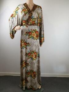 Mode-Voyage-Boho-Floral-Bell-Sleeve-Maxi-Dress-Size-10