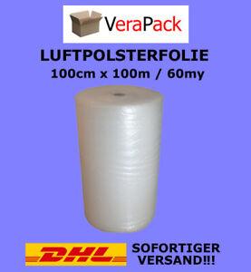 LUFTPOLSTERFOLIE 100cm x 100m / 60my EXTRA Noppenfolie Blasenfolie TOP ANGEBOT