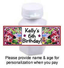 30 Candyland Candy Land Birthday Party Baby Shower Mini Bubbles Bottle Stickers
