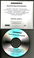 Slipknot & Static X MURDERDOLLS Beyond Valley of Murder Dolls ADVNCE PROMO DJ CD