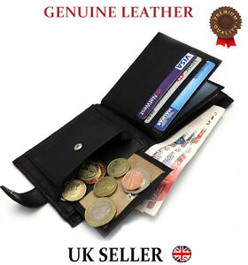 NEW-REAL-LEATHER-MENS-HIGH-QUALITY-LUXURY-SOFT-BLACK-SLIM-WALLET-GIFT-CARD-COIN