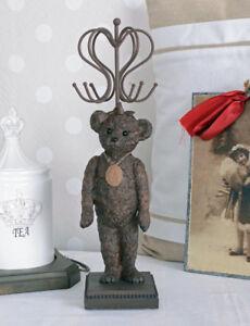 SCHMUCKHALTER TEDDYBÄR VINTAGE Teddy FIGUR KETTENHALTER Schmuckbaum Tierfigur