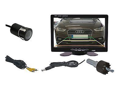 """18 Mm Einbaukamera & 7 """" Monitor Passend Für Mitsubishi Fahrzeugen Uvm.."""