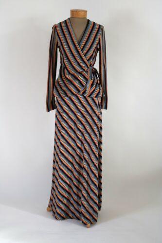 Vintage 70s Striped Metallic Knit Two-Piece Skirt