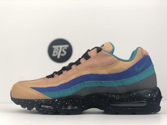 Men's Nike Air Max 95 Premium Size 13 Praline Green Blue Grey Black (538416 204)