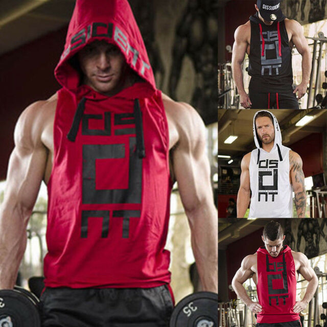 8f47fe4d49c8eb Men s Stringer Bodybuilding Fitness Muscle Workout Gym Tank Top Singlet T  Shirt
