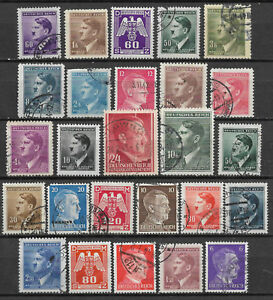 GERMANY-ADOLF-HITLER-STAMP-COLLECTION-PACKET-of-25-DIFFERENT-Stamps-Used