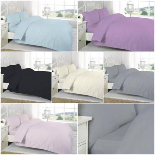 100/% Pure Egyptian Cotton T-200 Thread Count Plain Fitted Bed Sheet All Sizes
