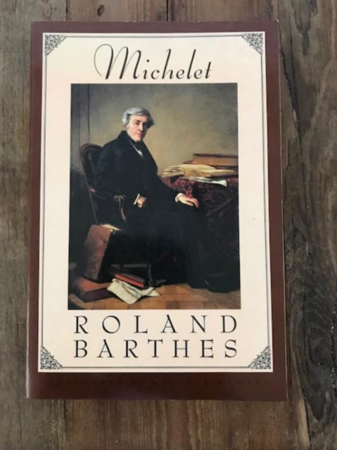 MICHELET By Roland Barthes -paperback 1987