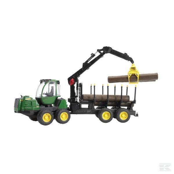 Bruder John Deere promotor forestal máquina modelo de escala 1 16 3+ años