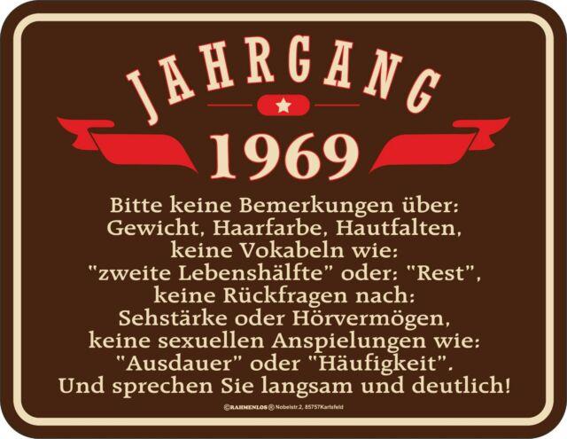 Blechschild Schild 50 Geburtstag Jahrgang 1969 Günstig Kaufen Ebay