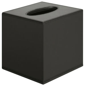 Haefele-Kosmetiktuchspender-schwarz-Kosmetik-Box-Tuchbox-Badezimmer-Box-H1211