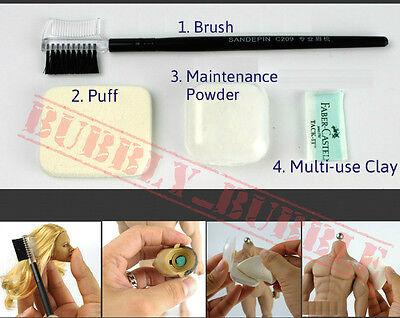 Seamless Figure Body Maintenance Powder Brush Clay Set For Hot Toys Phicen USA