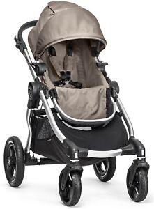 Baby-Jogger-City-Select-All-Terrain-Single-Stroller-Silver-Frame-Quartz-NEW