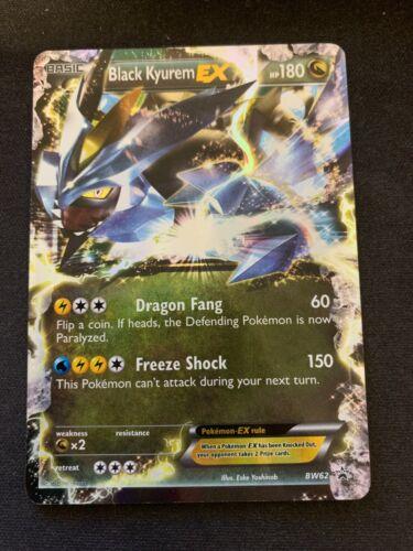 Pokemon Black Kyurem EX BW62 Holo Black Star Promo Heavily Played