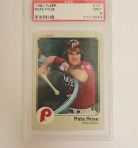 1983 Fleer Pete Rose #171 PSA 9 Mint Baseball Card