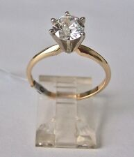 14K YELLOW GOLD 1 CT. ROUND DIAMOND ENGAGEMENT RECENT CERTIFICATION I-J VS1-VS2