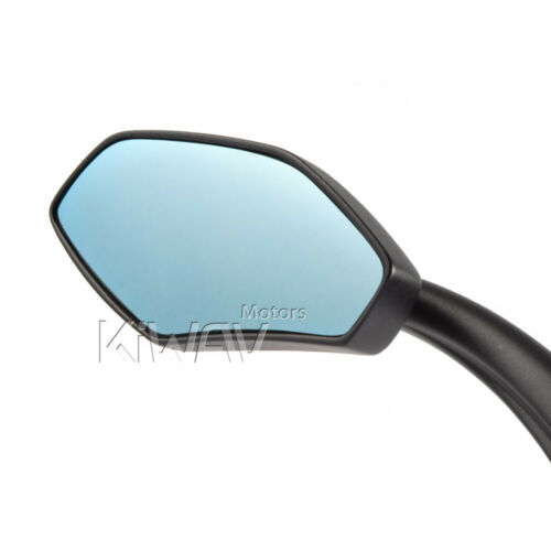 Medusa mirrors motorcycle scooter black chrome carbon look for metric Harley BMW