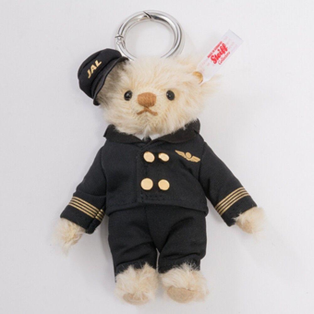 Steiff Teddy Bear Keyring JALPilot Collectible New with Tags Germany Japan Rare