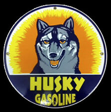 Husky Gasoline Porcelain Sign