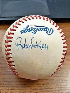 ROBERTO KELLY 2 SIGNED AUTOGRAPHED OAL BASEBALL!  Yankees, Reds, Rangers!!