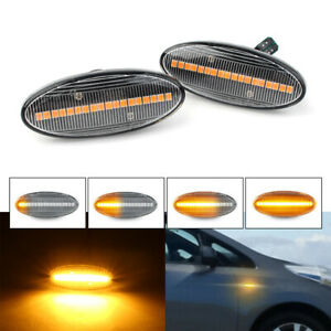 Dynamic-Clear-LED-Marker-Turn-Signal-Light-For-Nissan-Qashqai-Juke-X-trail-UK