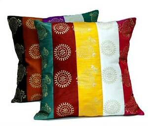 16-034-As-Many-DUPIAN-Work-COTTON-CUSHION-COVER-Ethnic-Multi-Colour-Pillow-Toss