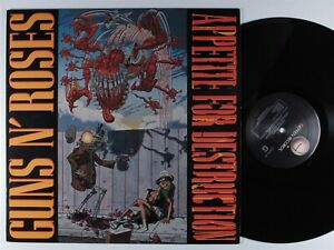 GUNS N ROSES Appetite for Destruction GEFFEN LP VG+/VG++ 1st press dmm matrix <>