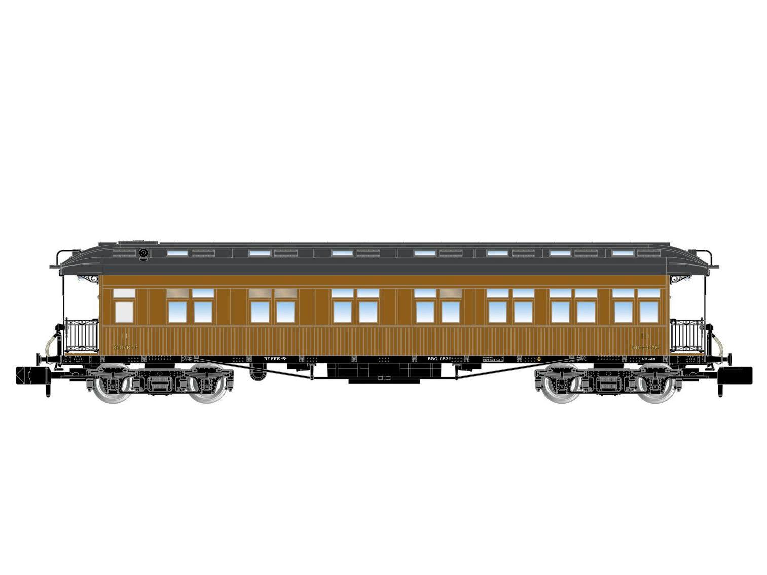 Arnold hn4231-vagoni viaggiatori costa 2.kl. m.z.a. - Spur N-NUOVO