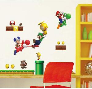 SUPER MARIO BRO & YOSHI Kids Wall sticker for Kids room & Nursery - 17 stickers