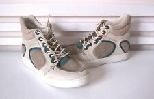 NWB Alexander McQueen MCQ PUMA SUMMER JOUST LEATHER HI-TOP SNEAKER Sz-US 10 $395