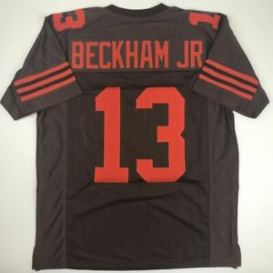 huge selection of 1297f 6a80d Details about New ODELL BECKHAM JR Cleveland Color Rush Custom Stitched  Football Jersey Men XL
