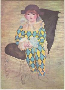 C4634 Picasso Suo Figlio Paolo Vestito Da Arlecchino Stampa