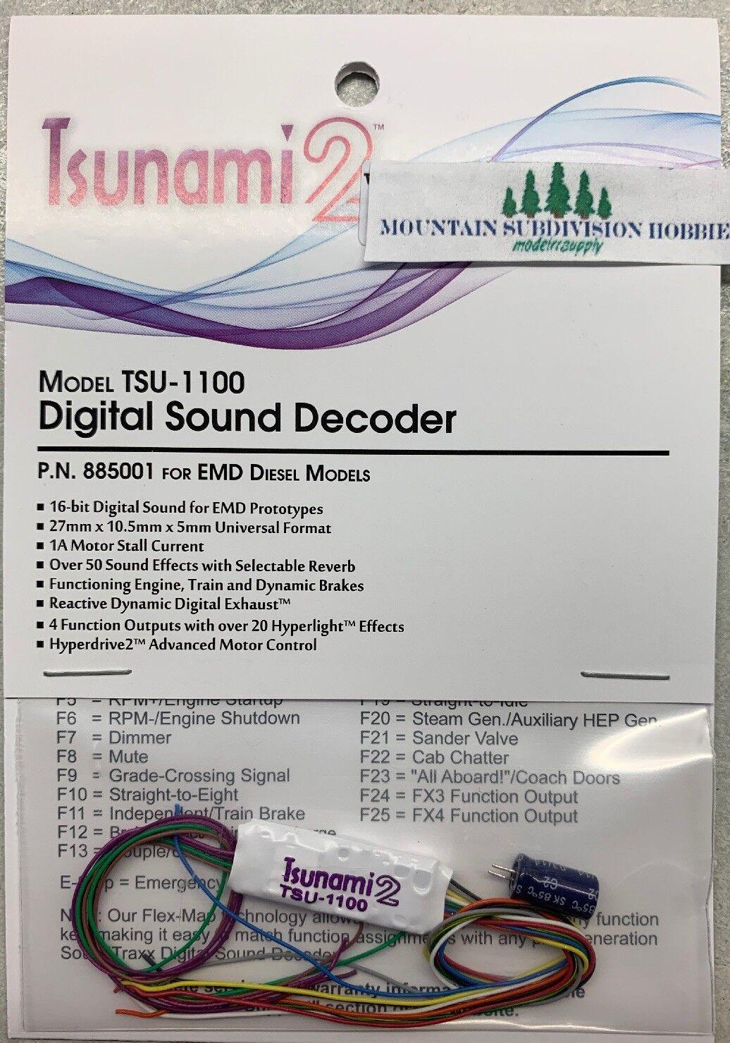 comprar mejor Soundtraxx Tsunami 885001 885001 885001 2 1 A TSU-1100 versión 1.2 EMD modelrrsupply Decodificador de sonido  Precio por piso