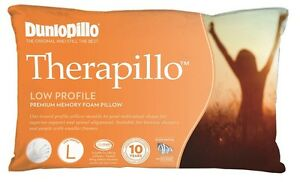 Dunlopillo Therapillo Low Profile Memory Foam Pillow RRP $159.90
