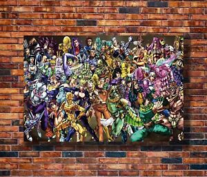 Art-JoJo-039-s-Bizarre-Adventure-Anime-20x30-24x36in-Poster-Hot-Gift-C1413