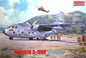 Roden-056-Fairchild-C-123B-Provider-American-Air-1-72-Scale-Model-Kit-465-mm