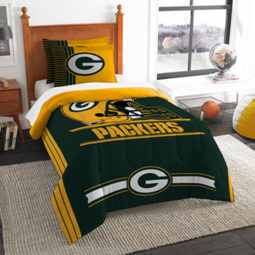 Twin or Full Size Bed FREE Shipping! NEW NFL Green Bay Packers Comforter Set