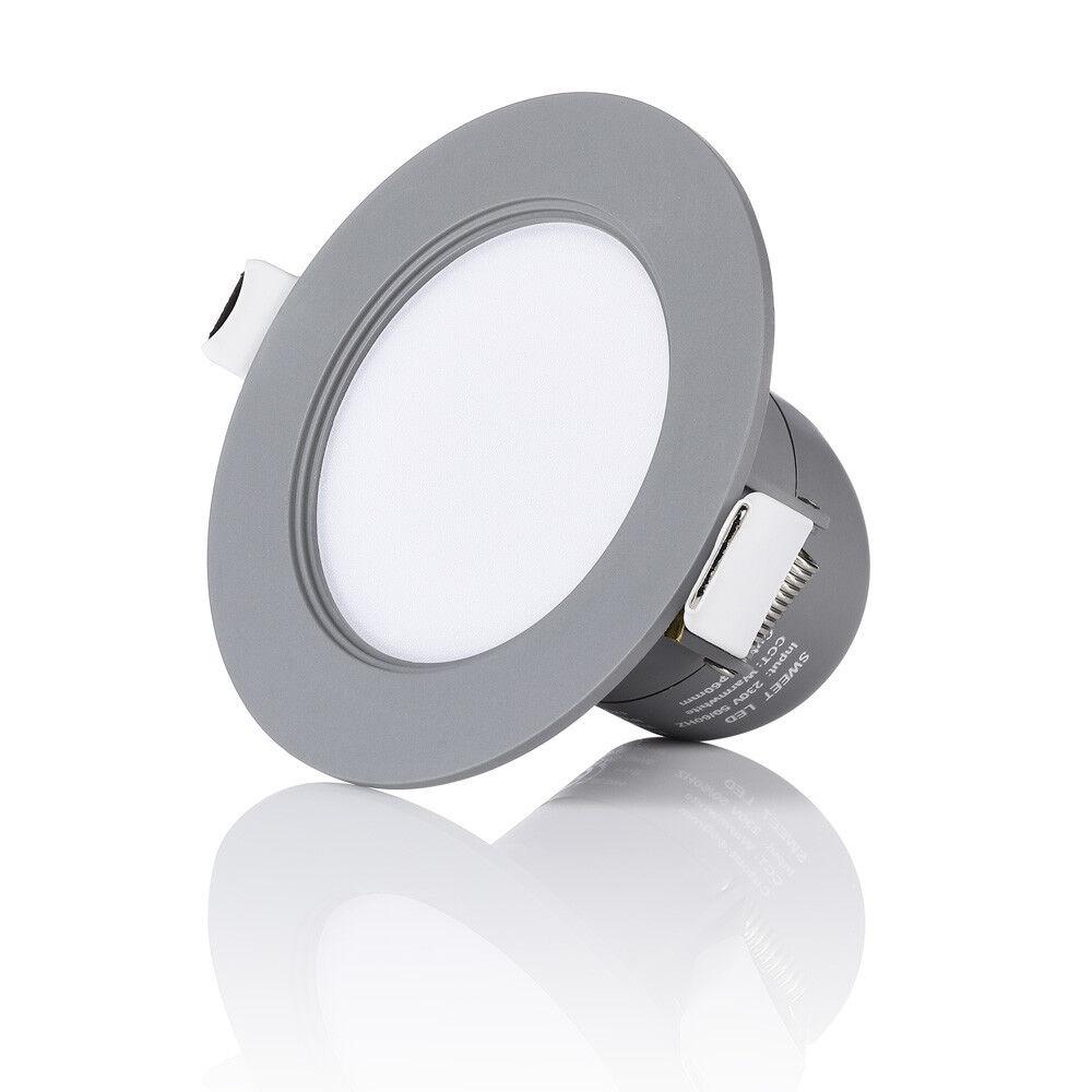 2 5 10er Ultra FLACH LED IP44 Badleuchten  Dimmbar  Feuchtraum  Einbaustrahler
