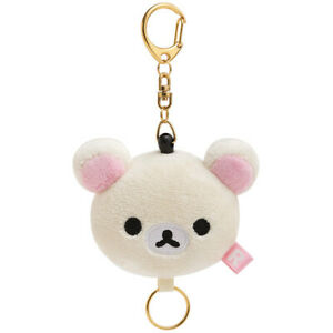 Rilakkuma-San-X-Korilakkuma-New-Plush-Reel-Key-Holder-Kawai-Japan-Free-Ship