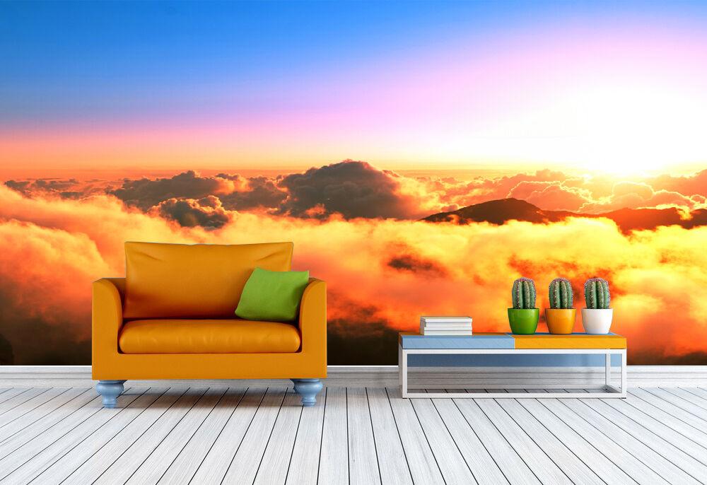 3D Gelbe dichten wolken 5432 Fototapeten Wandbild Fototapete BildTapete Familie