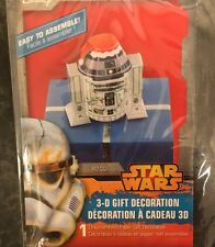 Star Wars R2-D2 Robot 3-D Gift Decoration with Santa Cap & Christmas Lights New