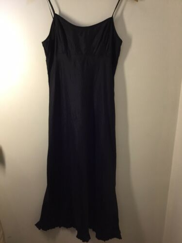 Dosa Black Silk Maxi Slip Dress Sz1