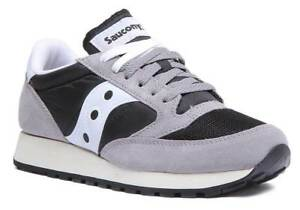 Saucony Trainers Black Original And Mesh Womens Jazz Uk 8 Grey Size3 Suede 44x6r7qw
