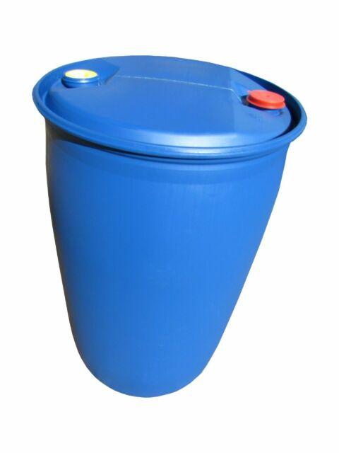 Fass Tonne Wasserfass Regenwasserfass Spundfass 200 L blau Kunststoff Plaste