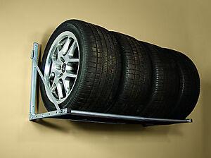 Rack Tire Storage Folding Wall Mount Garage Shelf Wheel
