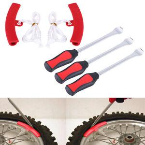 3x-Pneu-Levier-Outil-Spoon-Moto-Demonte-Pneu-Changer-2x-Roue-Protecteur-de-Jante