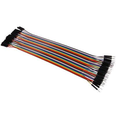 40Stk. 20cm Jumper Kabel für Breadboard Dupont Wire Drahtbrücken Steckbrücken