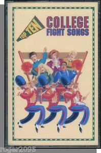 Details about Top Ten College Fight Songs - New 1993 Cassette Tape! Notre  Dame, Michigan, etc