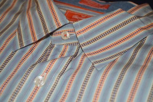 Ls Orange Coton L Bleu OrangeRayures Pour Shirt Club Hommes Blanc Faconnable N8XwnOk0P